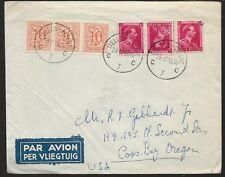 Belgium 1955 cover to USA