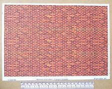 """G gauge (1:24 scale) """" Red-brown brick (clean) """" -  paper- A4 sheet"""