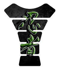 Ninja Kanji lettering Green Kawasaki Ninja Motorcycle Tank Pad tankpad Protector