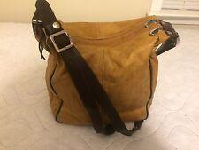 Christina Leather Purse Brown Handbag Large Shoulder Bag made in Italy