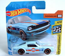 Hot Wheels Speed Graphics 1965 Mustang Fastback Gulf Oil Racing Superb Model MOC