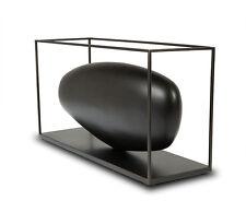 """Moderno Abstracto plástico Escultura"""" Wooden Stone Jaula Metal"""