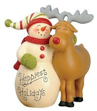Blossom Bucket Happiest Holiday Snowman and Reindeer **So Cute**