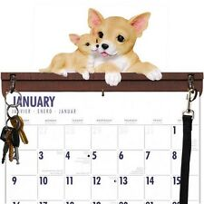 CHIHUAHUA CALENDAR CADDY, KEY HOLDER & LEASH HOOK~NEW WITHOUT BOX!