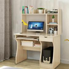 Small Computer Desk PC Laptop Table Kids Shelves Office Home Corner Workstation