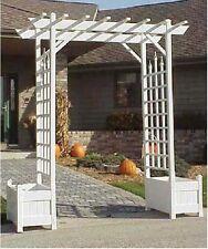 Garden Arches and Arbors Ivy Trellis Flower Planter Pergola Wedding Arbor Arch