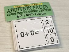 Addition Facts- Cards for Learning Center 92 Clothes Pin Cards Teaching supplies