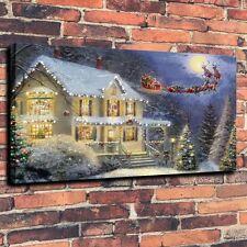 Art Canvas Prints Oil Painting  the night before Christmas Wall Decor (Unframed)