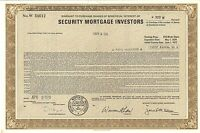Security Mortgage Investors > 1979 Massachusetts old stock certificate share
