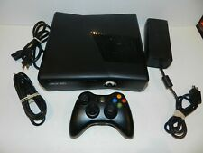 Microsoft Xbox 360 S Slim 320 GB Console Black Cleaned Tested complete bundle
