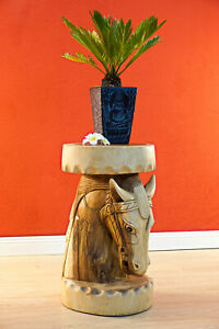 Side Table Stool Horse Flowers Podium Columns Night Table Living Room Table Deco