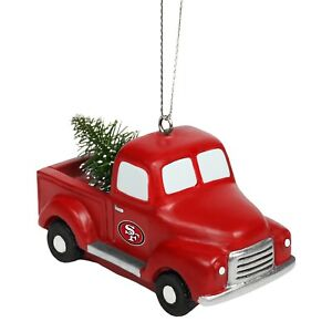 San Francisco 49ers Truck with Tree Christmas Tree Holiday Ornament - FREE SHIP