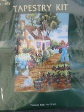 Coats Tapestry Kit ~ Cottage and Garden with Scarecrow~14 x 18cm~ new in pack