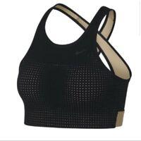 NEW! Nike Classic Cross Support Sports Bra 903234-011 Color Black/Sand Medium