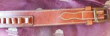 Desantis B37 Cowboy Belt Tan Leather Size 34 (44/45LC) Loops Tan Sale C847
