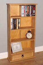 Corona DVD Rack 1 Drawer 4 Shelf Small Bookshelf Storage by Mercers Furniture