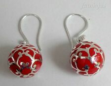 Solid Silver, 925 & Balinese Ball Mystic Chime Earring 30080