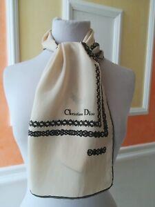 Christian Dior, sciarpa seta stola scarf  Vintage