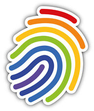 LGTB Gay Pride Rainbow Fingerprint Car Bumper Sticker Decal 4'' x 5''