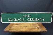 Lymington Street Sign Twinned Mosbach Germany Twin Town Rare Original