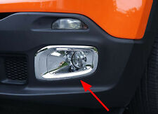 ABS Chrome Front Fog Light Cover Trim for 2015-2016 Jeep Renegade Foglight