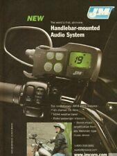 2004 J&M Motorcycle Handlebar mounted CB Radio Stereo System - Vintage Ad