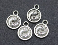20pcs tibet silver TWO-sided YINYANG gossip charm pendant 13mm Free shipping