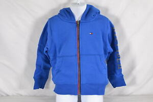 Youth Boy's Tommy Hilfiger Sherpa Lining Full Zip Hoodie in Olympic Blue