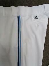 TORONTO BLUE JAYS WHITE THROWBACK  WHITE MAJESTIC PRO BASEBALL PANTS 32-42 WAIST