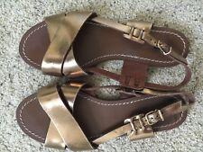 J.Crew Gold Sandals Size 8