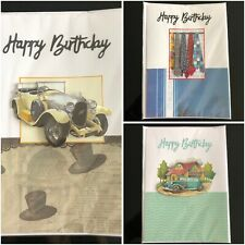Pack Of 3 Handmade 3D Birthday Cards Men's Boys Dad Brother Greetings Cards