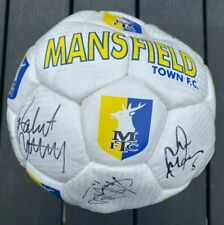 More details for mansfield town - hand signed football - many signatures -vgc