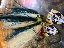 3V Fly Size 3/0 HD Ultimate Blue Mackerel Baitfish Predator Saltwater Flies