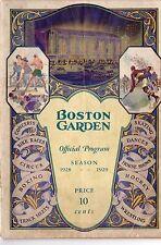 1928-29 Season Boston Garden First Boston Bruins GM/Opening Night Boxing Vg-Fr