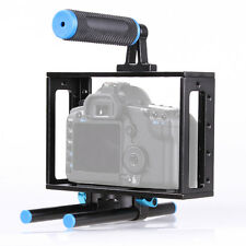 Digital DSLR Camera Cage Support Kit for Canon 5D 5DII 5DIII 7D 60D 15mm Rod Rig