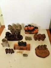 Small collection/ lot vintage 3 wise monkeys hear speak see no evil .