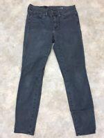 J.Crew Women's Gray Cotton Blend Stretch Toothpick Skinny Jeans Sz 28