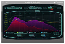 Zynaptiq Unmix Drums plug in attenuate or boost drums software download