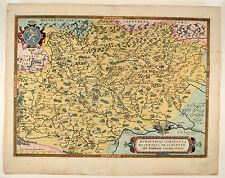 Burgundiae Bourgogne Ortelius 1579 Kupferkarte Map France Frankreich Burgund