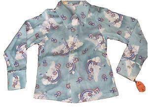 Vintage  70s Bubaloo Knits Disco Shirt Polyester Blue boys Sz 8