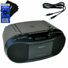 Sony CD Player Portable Boombox with Am/Fm Radio & Cassette Tape Player and Auxiliary Cable