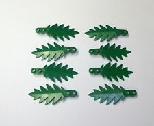 Lego Green Palm Tree Leaves Plants Grass Flowers New Lot Of 8