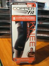 "Copper Infused Polyester Knee Sleeve Compression Fit Unisex 21.5""- 23"" Black XXL"