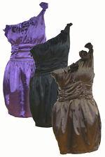 Unbranded Women's No Pattern One Shoulder Polyester Dresses