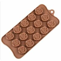 15-Cavity Silicone Flower Rose Chocolate Cake Soap Mold Baking Ice Mould SE Top
