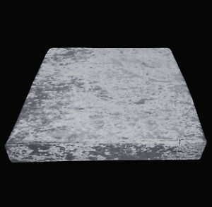 Mv03t Silver Grey Diamond Crushed Velvet 3D Box Seat Cushion Cover Custom size