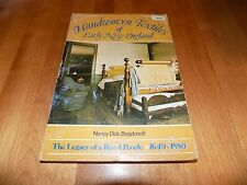 HAND WOVEN TEXTILES OF EARLY NEW ENGLAND Cloth Fabric Wool Fabrics Textile Book