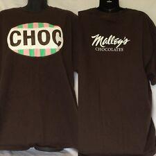 Malley's Chocolates T Shirt Size XL EUC Choc Cleveland Ohio Brown