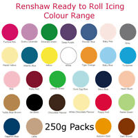 Renshaw Fondant Icing Sugar Paste Colour Ready To Roll For Cake Decorating 250g