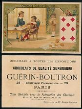Chromo Guérin-Boutron - Jeu de Cartes - Sept de Carreau